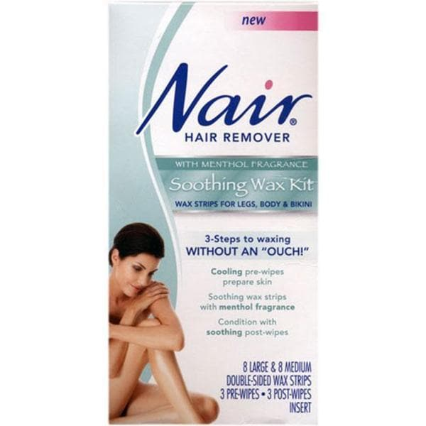Nair Hair Remover Menthol-scented Soothing Wax Kit (Pack of 3)
