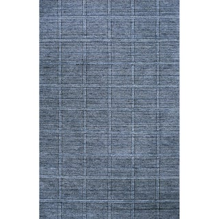 "Loft Denim Blue Hand-Loomed Wool Rug (7'6"" x 9'6"")"