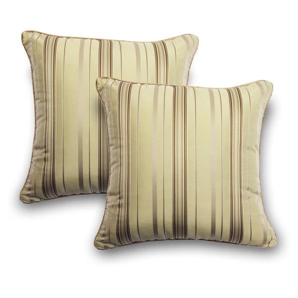 Stripe 18-inch Decorative Pillows (Set of 2)