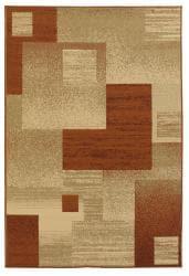 Mandara Beige Geometric Area Rug (8' x 11') - Thumbnail 1