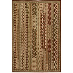 Artist's Loom Indoor/Outdoor Contemporary Abstract Rug - 5' x 8' - Thumbnail 0