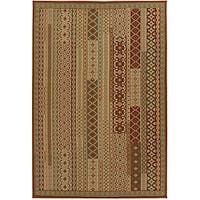 Artist's Loom Indoor/Outdoor Contemporary Abstract Rug (8' x 11') - 8' x 11'