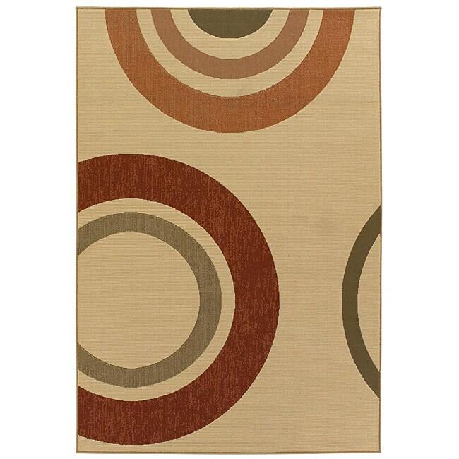 Artist's Loom Indoor/Outdoor Contemporary Geometric Rug - 5' x 8'
