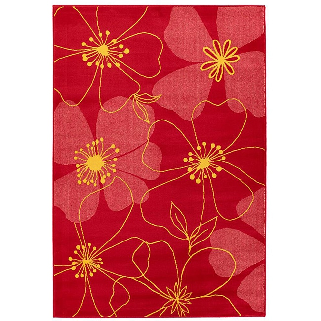 Artist's Loom Indoor Transitional Floral Rug - 8' x 11'