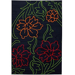 Artist's Loom Indoor Transitional Floral Rug - 5' x 8' - Thumbnail 0