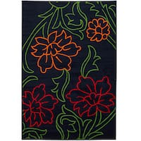 Artist's Loom Indoor Transitional Floral Rug - 5' x 8'