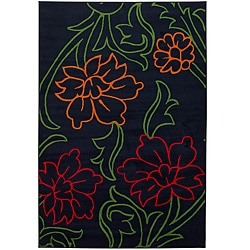 Artist's Loom Indoor Transitional Floral Rug - 8' x 11' - Thumbnail 0