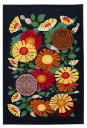 Artist's Loom Indoor Contemporary Floral Rug (5' x 8')