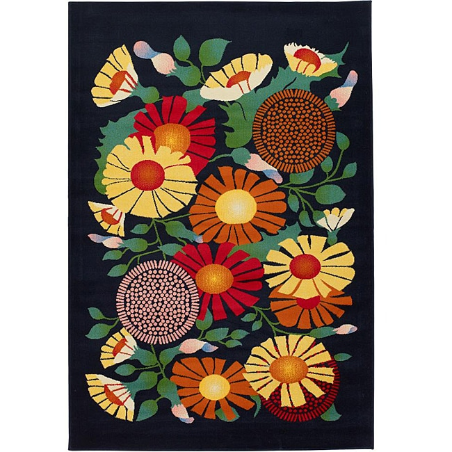 Artist's Loom Indoor Contemporary Floral Rug - 8' x 11'
