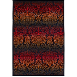 Artist's Loom Indoor Contemporary Floral Rug (8' x 11') - 8' x 11' - Thumbnail 0
