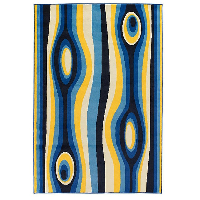 Artist's Loom Indoor Contemporary Abstract Rug - 8' x 11'