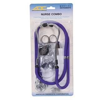 ADC Purple Nurse Combo Stethoscope and Instruments Kit