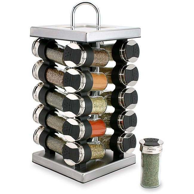 0300b38720c7 Olde Thompson 20-jar Square Stainless Steel Spice Set