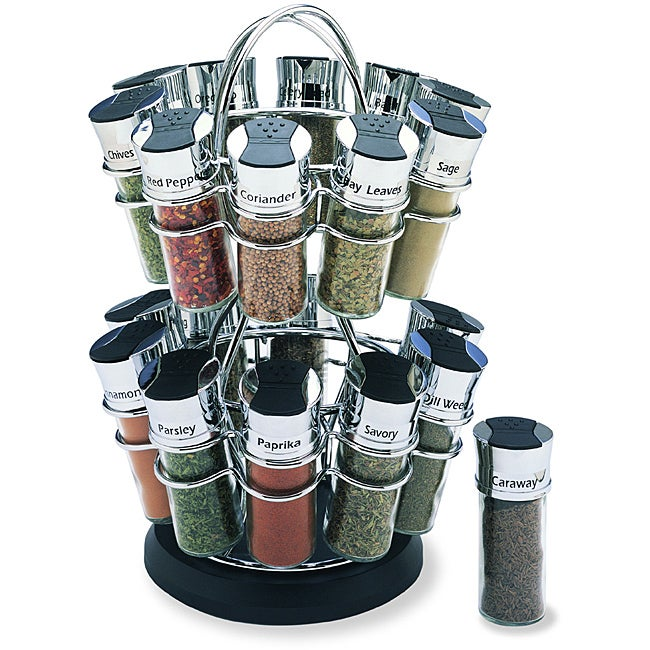 Olde Thompson 20-jar Flower Spice Rack Set - Thumbnail 0