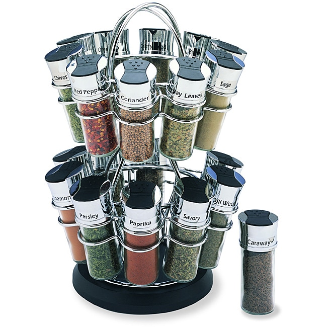 Olde Thompson 20-jar Flower Spice Rack Set