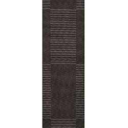 "Loft Charcoal Blocks Hand-Loomed Wool Rug (2'6"" x 8')"