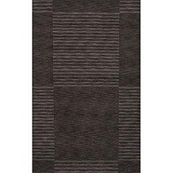 Loft Charcoal Blocks Hand-Loomed Wool Rug (7'6 x 9'6)