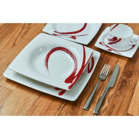 Paint It Red 5pc. Place Setting