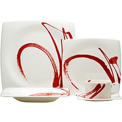Red Vanilla Paint It Red 5-piece Dinnerware Set