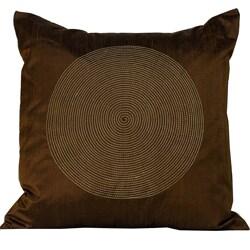 'Spiral' Chocolate 20x20-inch Decorative Pillow