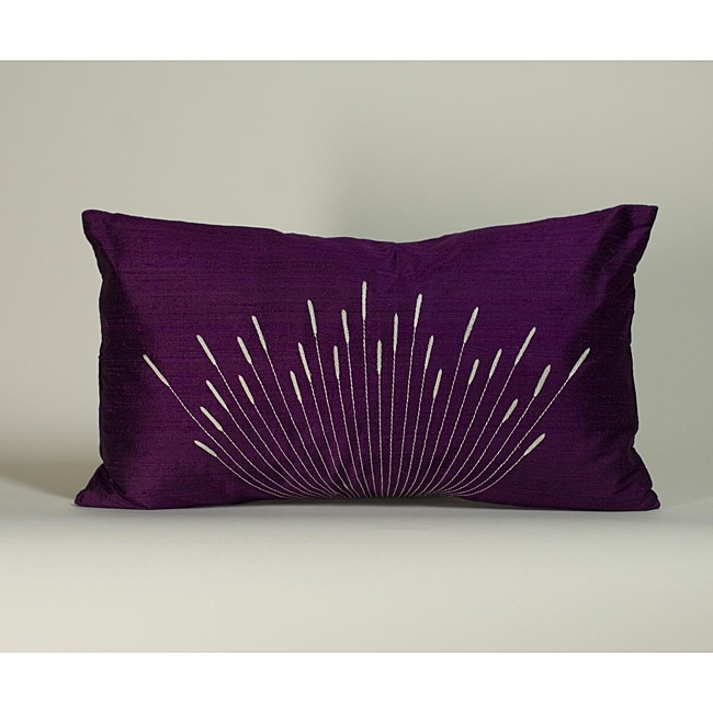 'Branches' Purple 12x20-inch Decorative Pillow - Thumbnail 0