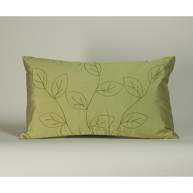 'Leaves' Sage 12x20-inch Decorative Pillow