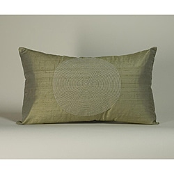 'Spiral' Taupe 12x20-inch Decorative Pillow