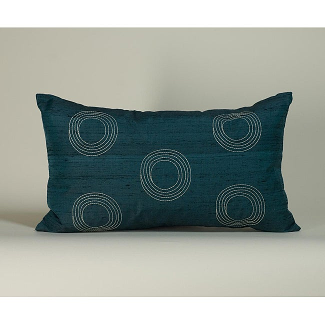 'Center' Teal 12x20-inch Decorative Pillow