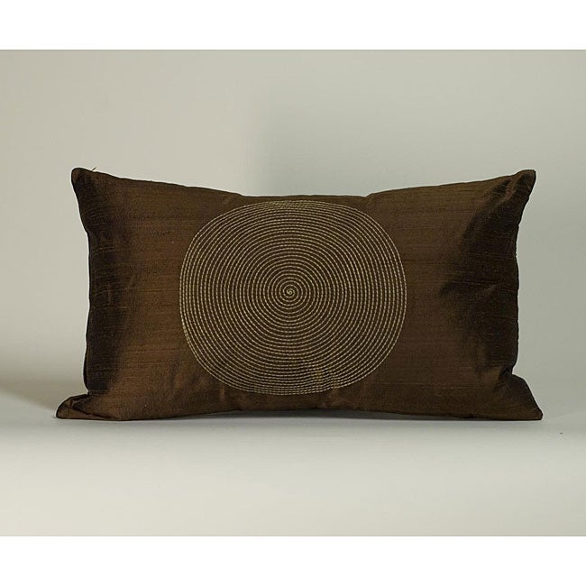 'Spiral' Chocolate 12X20-inch Decorative Pillow - Thumbnail 0