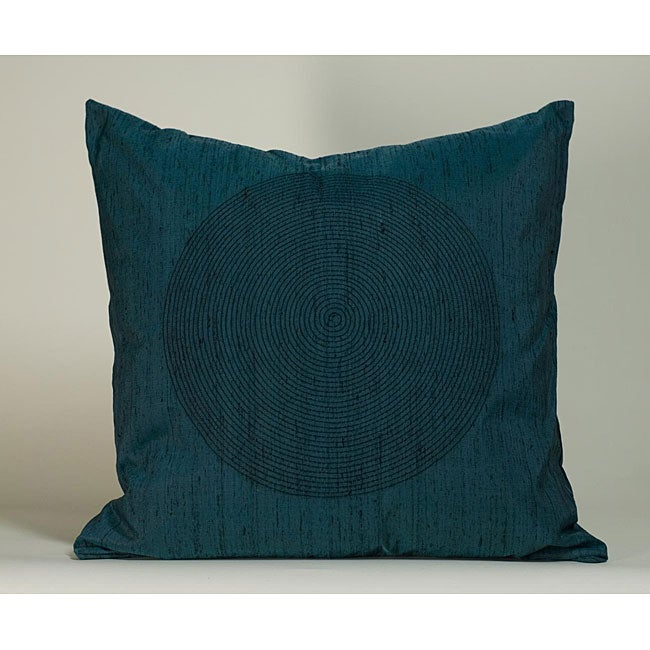 'Spiral' Teal 20x20-inch Decorative Pillow - Thumbnail 0