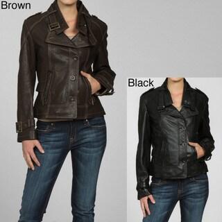 Collezione Italia Women's Asymmetrical Lambskin Jacket