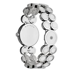 Movado Women's 'Ono Moda' Stainless Steel And Ceramic Diamond Watch - Thumbnail 1
