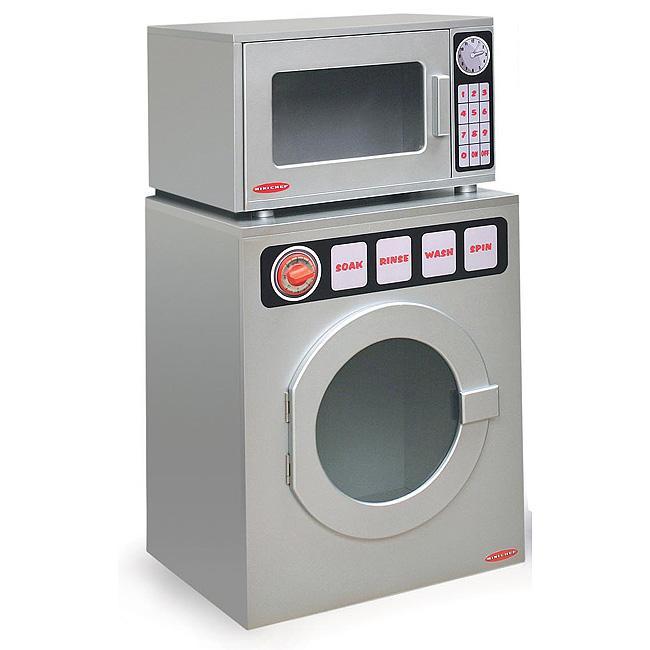 Mini Chef Play Kitchen Microwave/ Washer