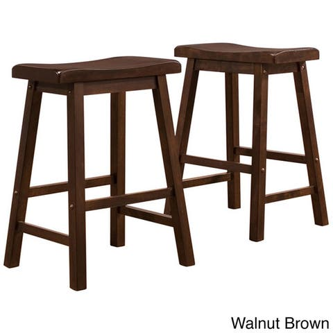 Salvador Saddle Seat Counter Height Stool (Set of 2) by iNSPIRE Q Bold