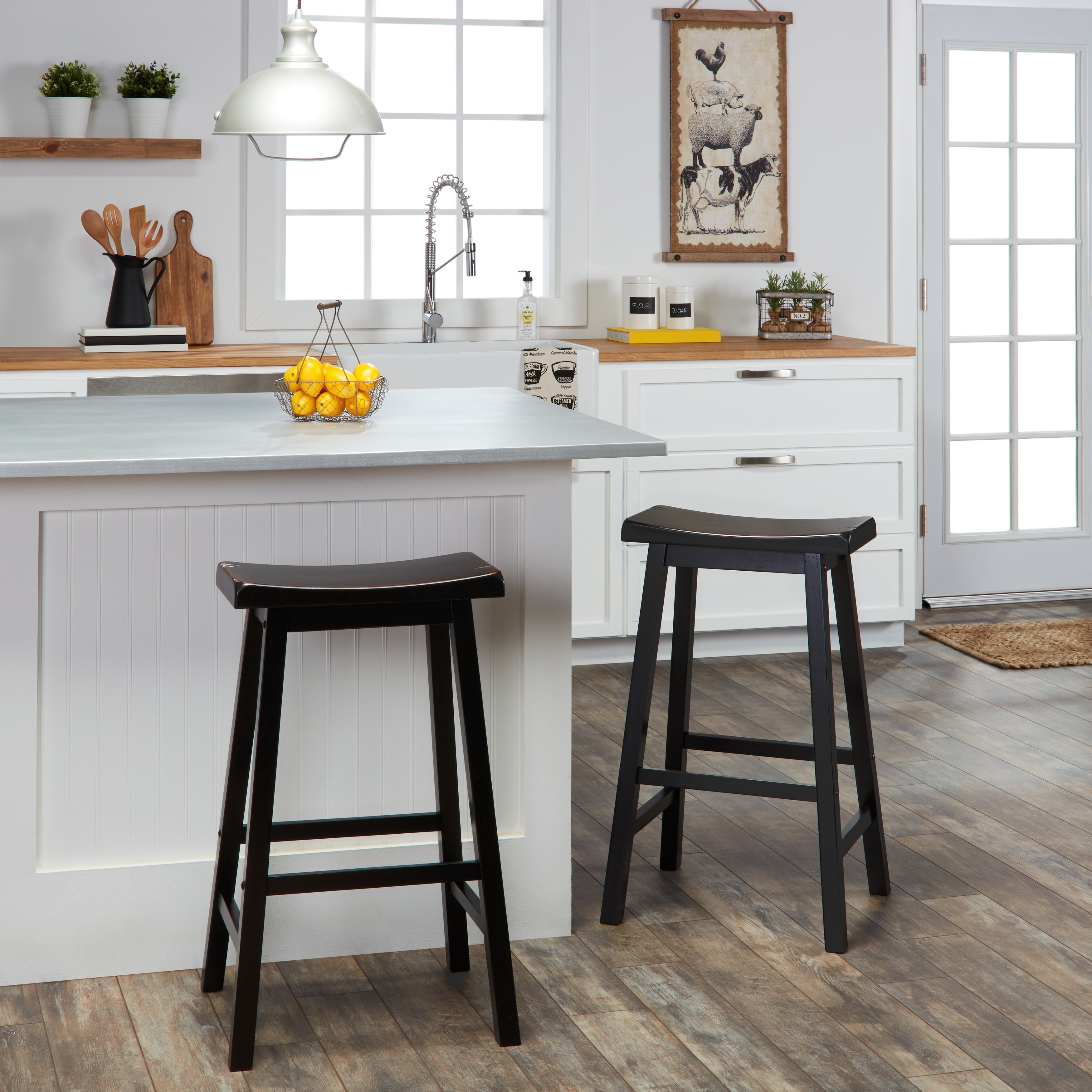 Salvador Saddle 29 Inch Counter Height Backless Stools Set Of 2 By