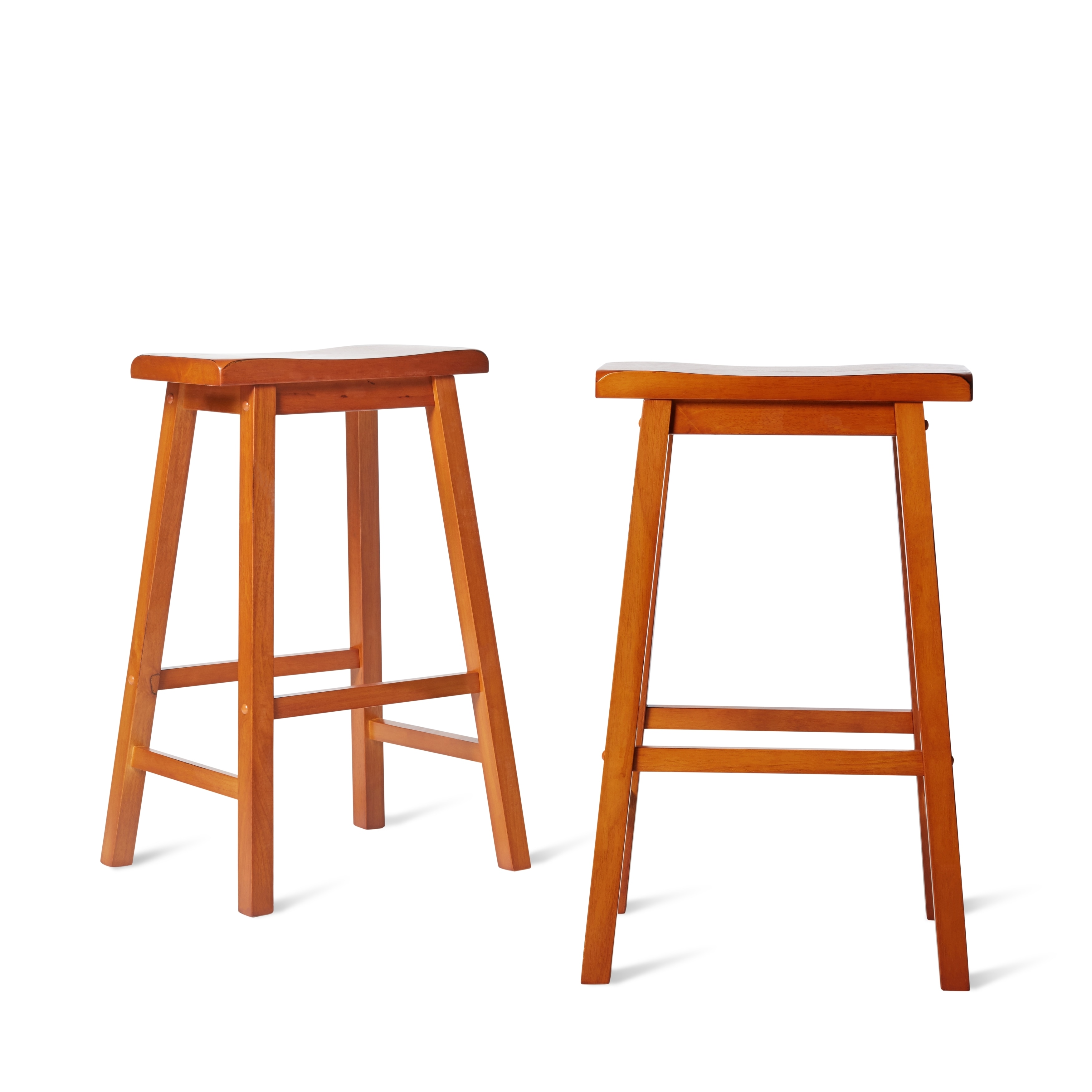 Salvador Saddle 29 Inch Counter Height Backless Stools