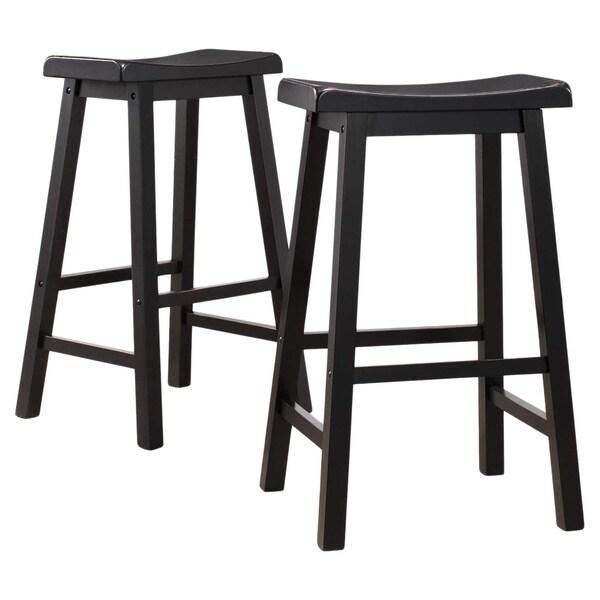 saddle seat bar stool counter height leather stools 24 30 inch black set mainstays saddle bar stools