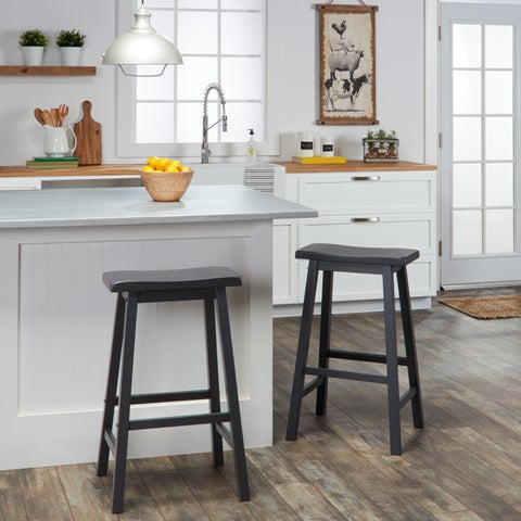Salvador Saddle 29-inch Counter Height Backless Stools (Set of 2) by iNSPIRE Q Bold