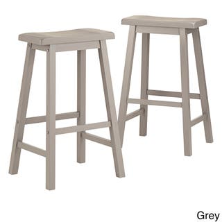 Salvador Saddle 29 Inch Counter Height Backless Stools Set Of 2 By Inspire