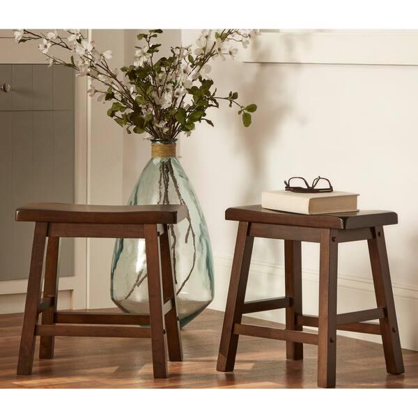 Tremendous Shop Salvador Saddle Back 18 Inch Backless Stool Set Of 2 Machost Co Dining Chair Design Ideas Machostcouk