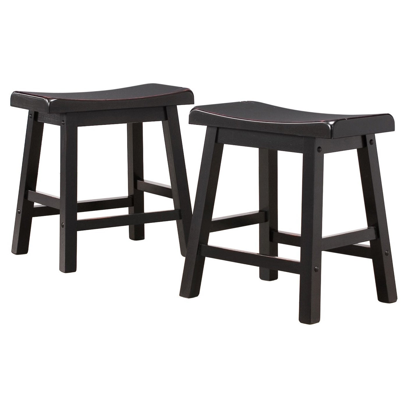 Miraculous Salvador Saddle Back 18 Inch Backless Stool Set Of 2 By Inspire Q Bold Machost Co Dining Chair Design Ideas Machostcouk