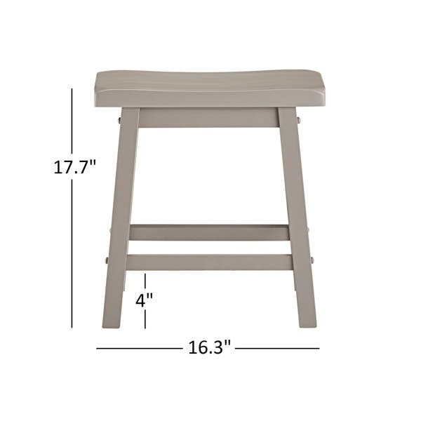 Cool Shop Salvador Saddle Back 18 Inch Backless Stool Set Of 2 Machost Co Dining Chair Design Ideas Machostcouk