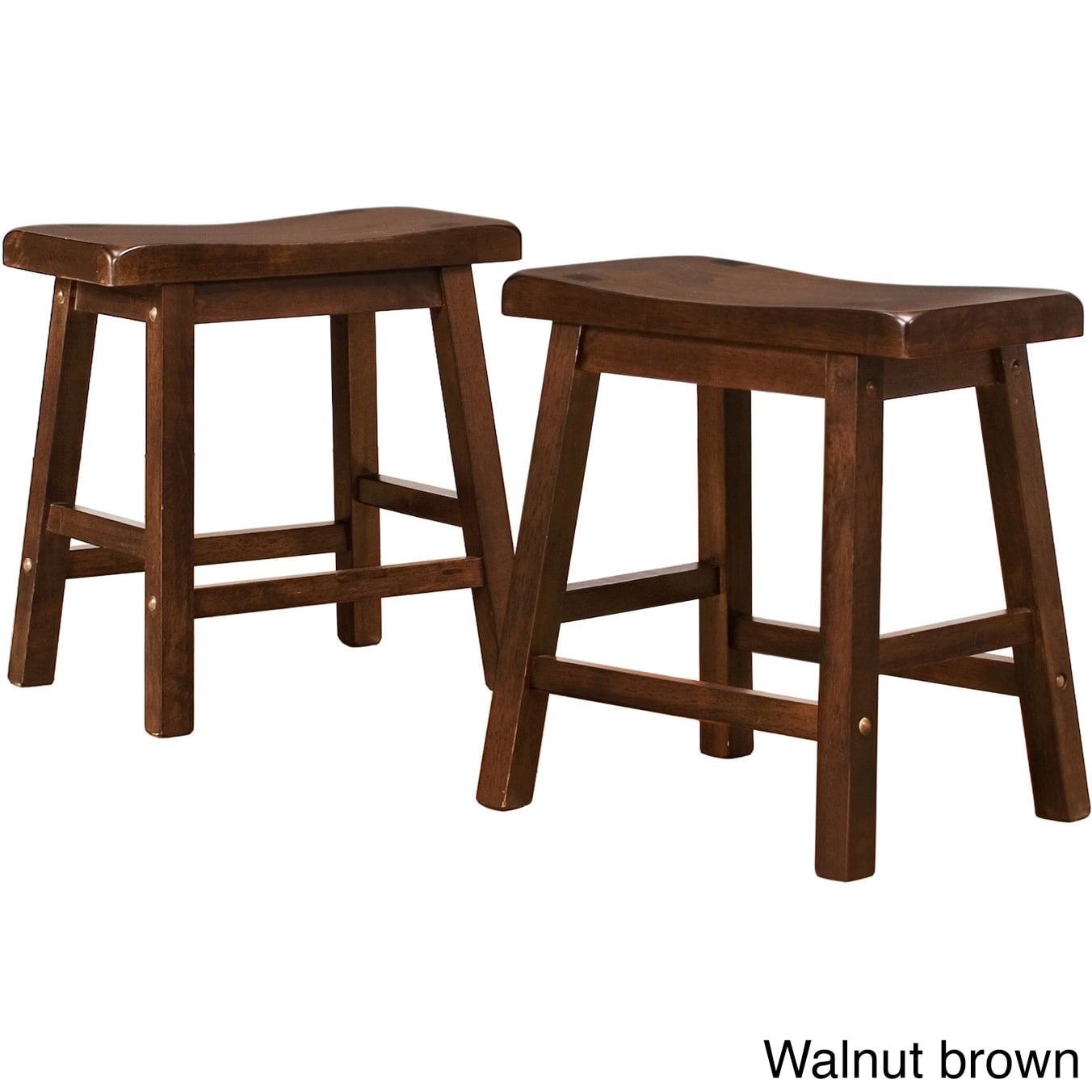 Salvador Saddle Back 18 Inch Backless Stool Set Of 2 By