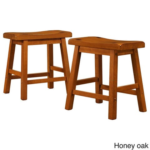 Salvador 18-in. Backless Saddle-seat Stools (Set of 2) by iNSPIRE Q Bold - Stool