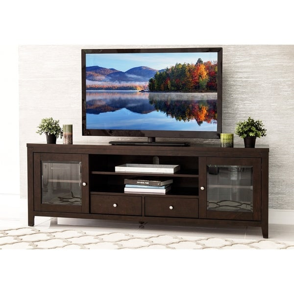 Abbyson Charleston Solid Wood 72-inch TV Console