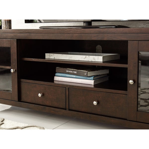 Abbyson Charleston Solid Wood 72 Inch TV Console   Free Shipping Today    Overstock.com   12960380