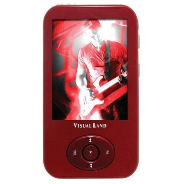 Visual Land V-Motion Pro ME-964 4 GB Red Flash Portable Media Player
