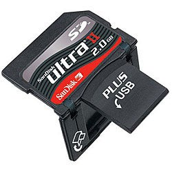 SanDisk 2GB Ultra II SD Plus USB Flash Memory Card (Bulk Packaging)