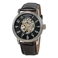 Stuhrling Original Men's Romeo Automatic Black Strap Watch
