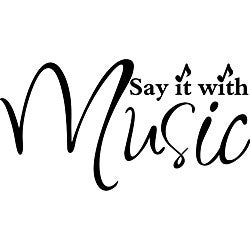 Design on Style 'Say it With Music' Vinyl Wall Art Quote